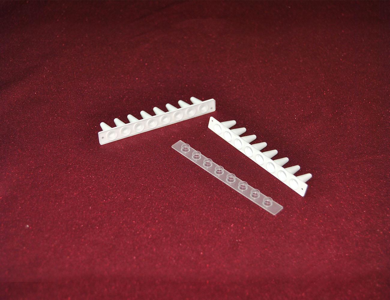0.2ml pcr8联排管平盖白色