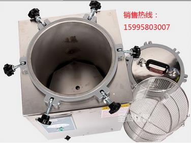 批发滨江12L手提式蒸汽灭菌器 不锈钢煤电两用消毒锅 YX-12LM