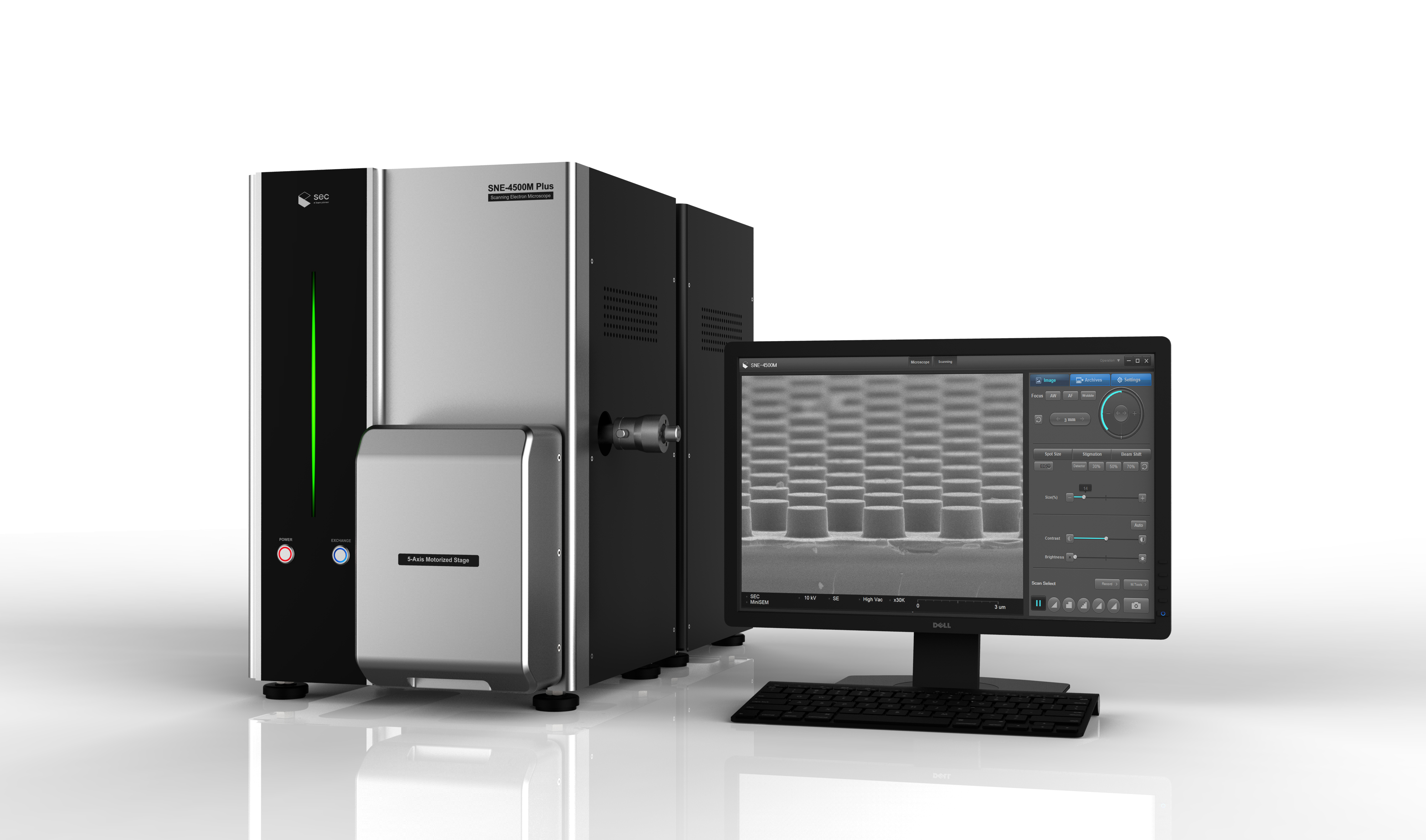 韩国SEC SNE-4500P型高分辨台式扫描电镜