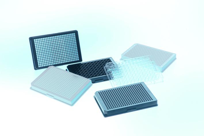 1536孔细胞培养微孔板,HiBase设计,聚苯乙烯,F型底,白色μClear?底,TC处理,灭菌,无盖