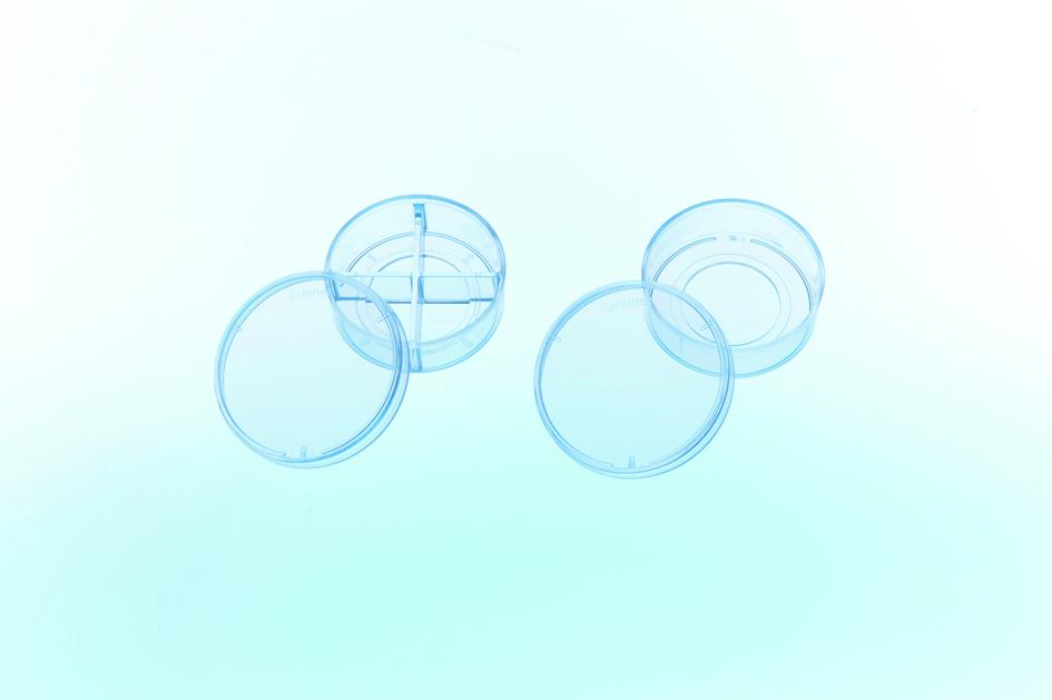CELLview玻璃底细胞培养皿,35*10mm,4格,无处理
