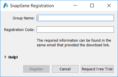 snapgene group name registration code