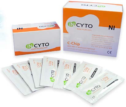 韩国Incyto一次性血球计数板 DHC-N01 DHC-F01 DHC-B02 DHC-S01 血细胞计数板