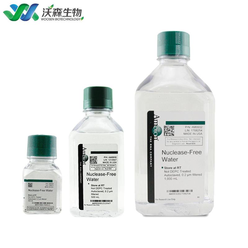 无核酸酶水 Nuclease-Free Water Ambion AM9930 500、100、30、5ml