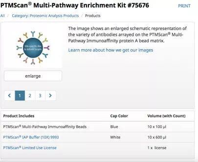 PTMScan® Multi-Pathway Enrichment Kit