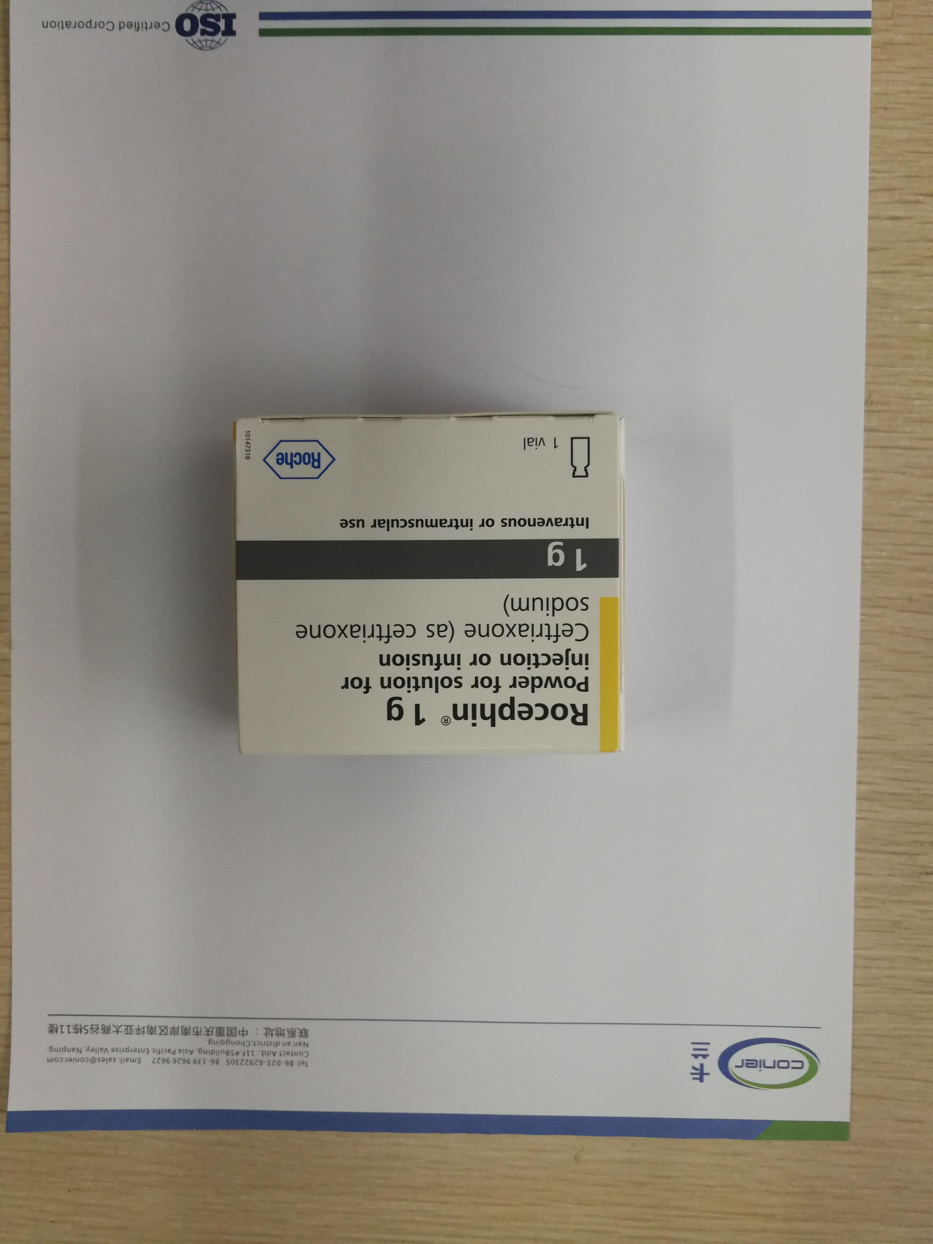 参比制剂 Rocephin注射用头孢曲松钠