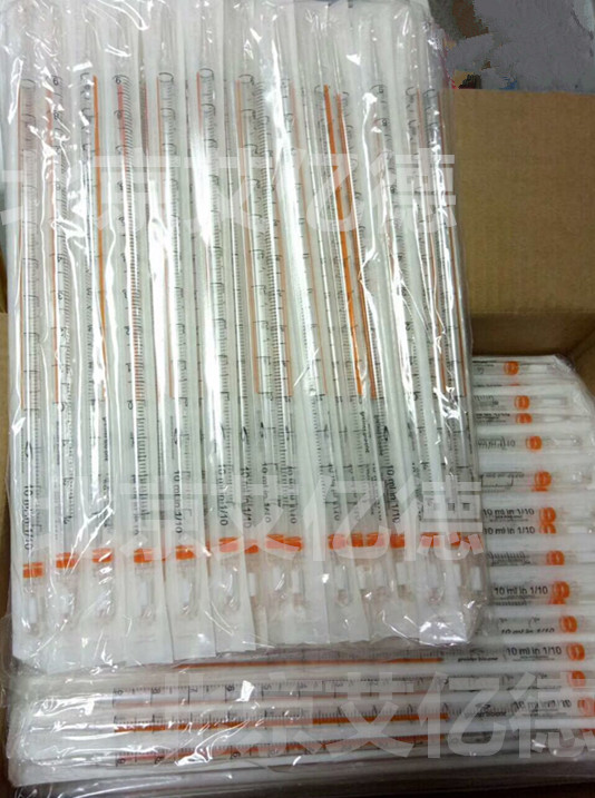 607180,血清移液管,10ml,纸/塑料,灭菌