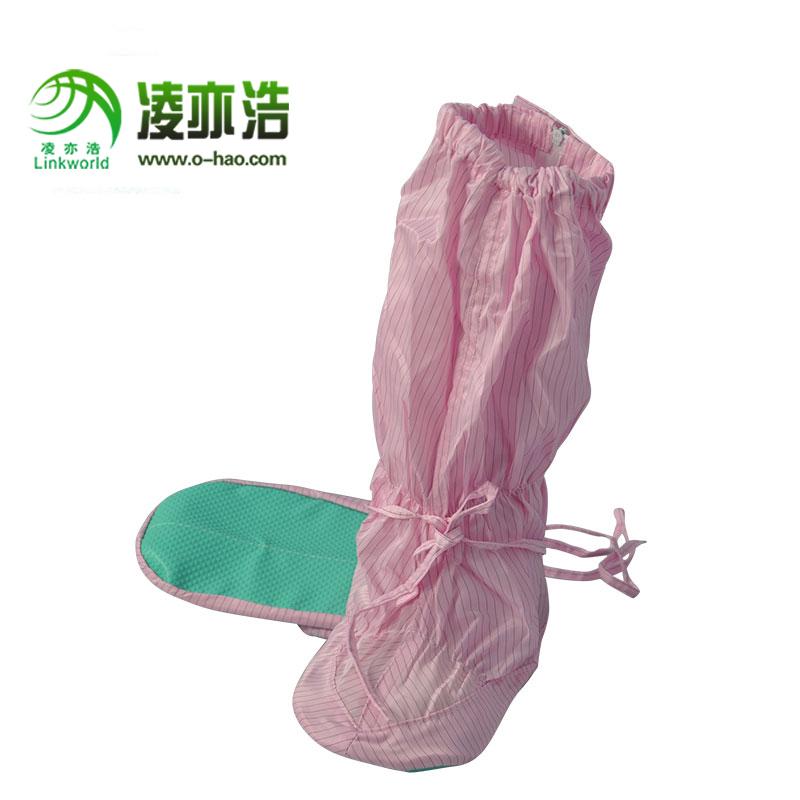 深圳凌亦浩防静电厂家供应防静电PVC高帮套筒工作鞋