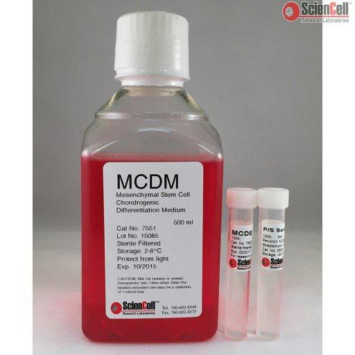 ScienCell 间充质干细胞软骨细胞分化培养基 MCDM(货号7551)