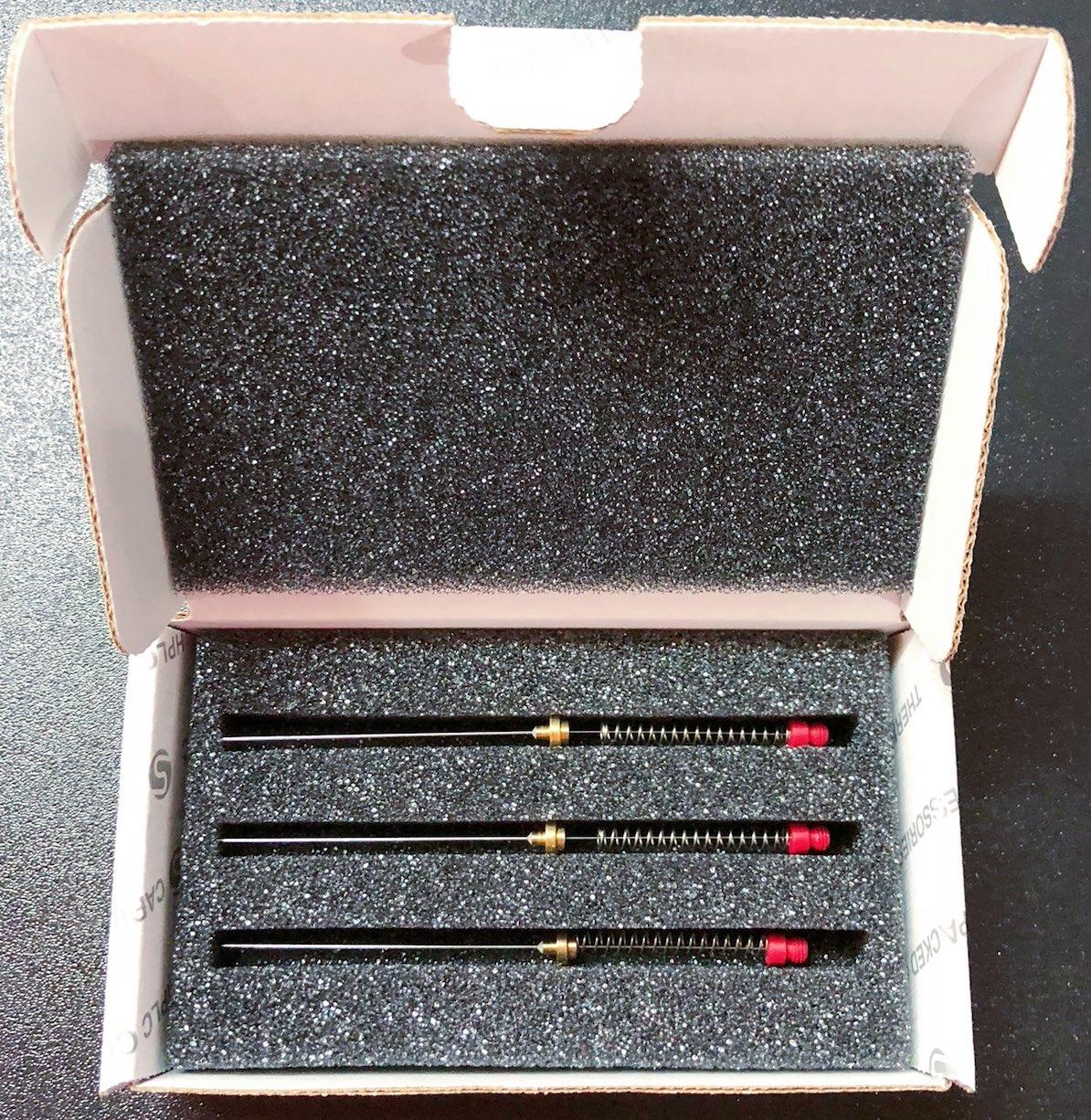 57300-U  Supelco 100um PDMS(聚二甲基硅氧烷)固相微萃取手动进样萃取头,3支/盒(MW 60-275)