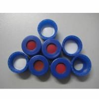 9mm蓝色开孔拧盖带红色PTFE/白色硅胶垫(适用于2ml广口样品瓶)