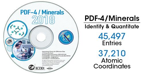 PDF-4+2018矿物版衍射数据库卡片