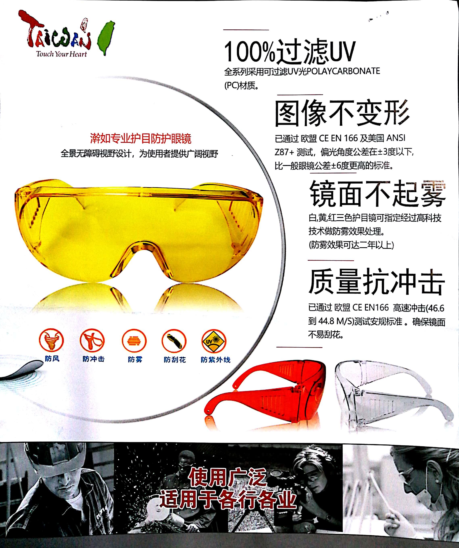 安全护目镜 safety glasses