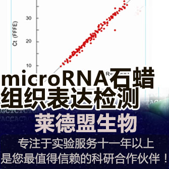 石蜡组织microRNA表达检测