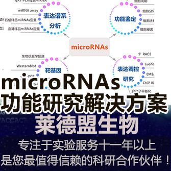 microRNAs功能研究系统解决方案