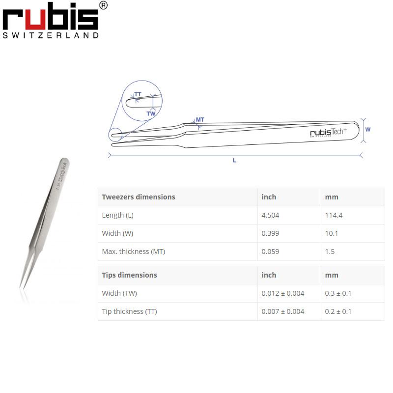 瑞士Rubis镊子2-SA 代理Rubis