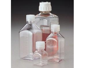 透明窄口方瓶