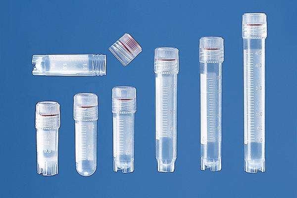 冻存管 2.0ml 圆底  自立式 外旋密盖 PP(聚丙烯)材质 灭菌 袋装 硅胶垫圈, 50个/包, 10包/箱