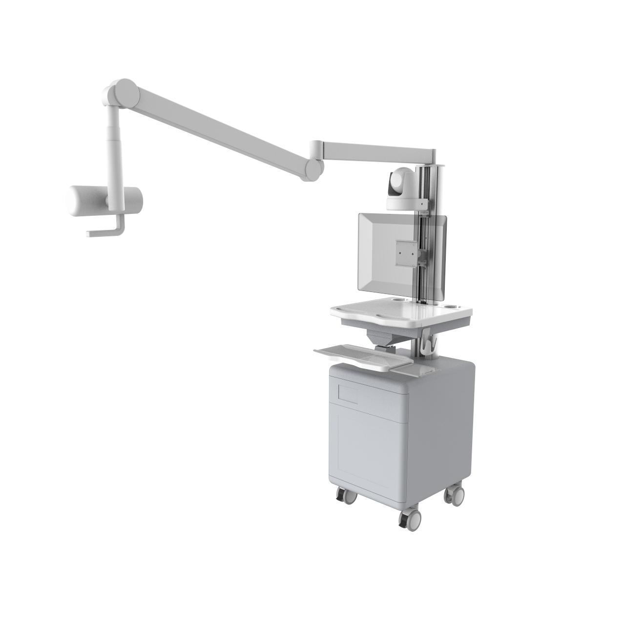 厂家直销手术录播车、可移动双手推车、电脑推车、高端摄影推车