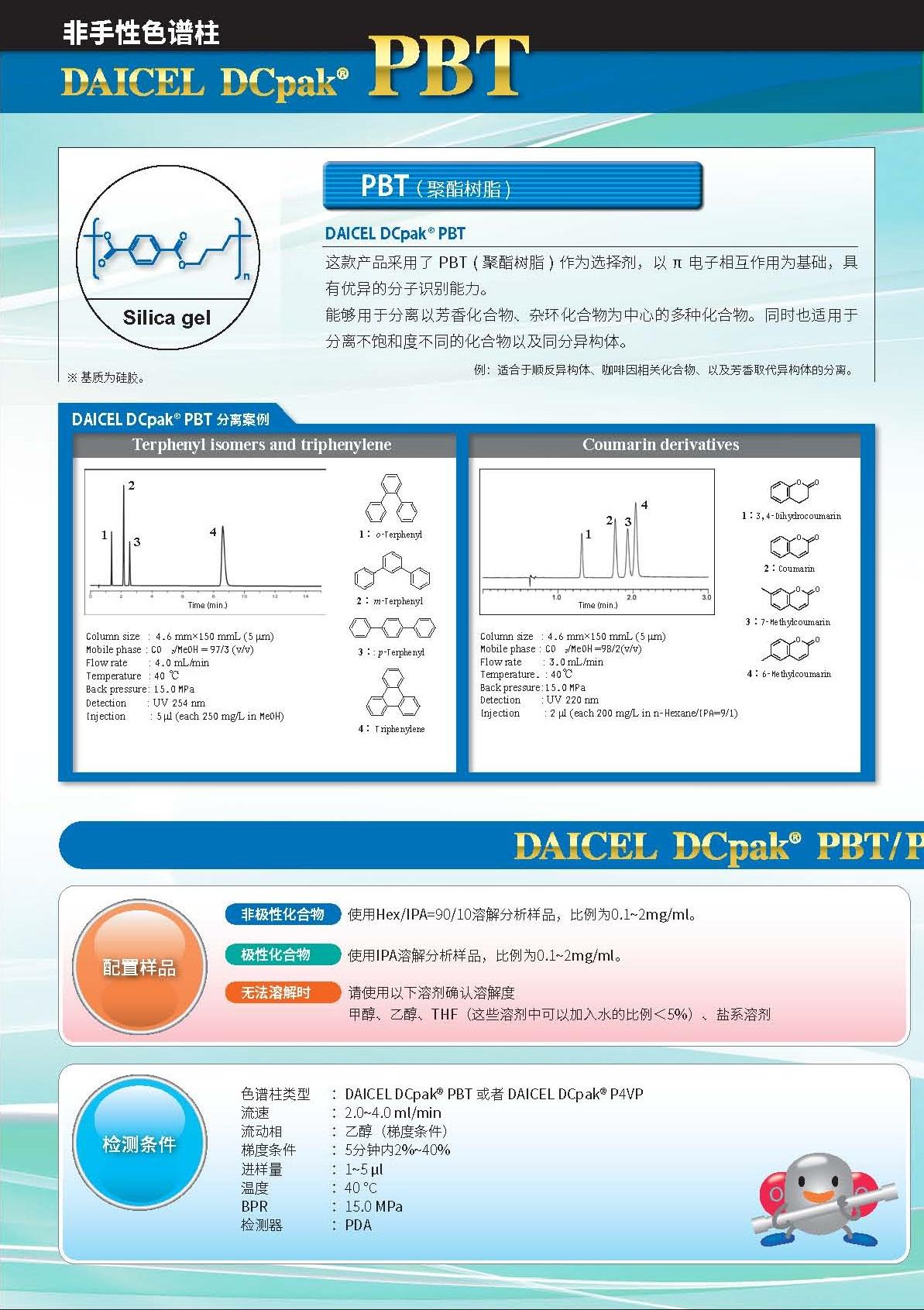 DAICEL DCpak® PBT ——合成聚酯类非手性色谱柱