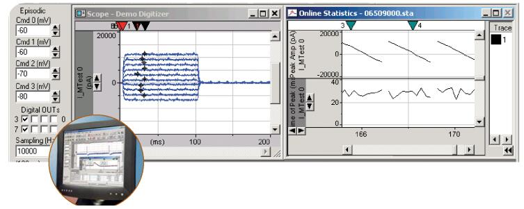 pClamp10记录和分析软件
