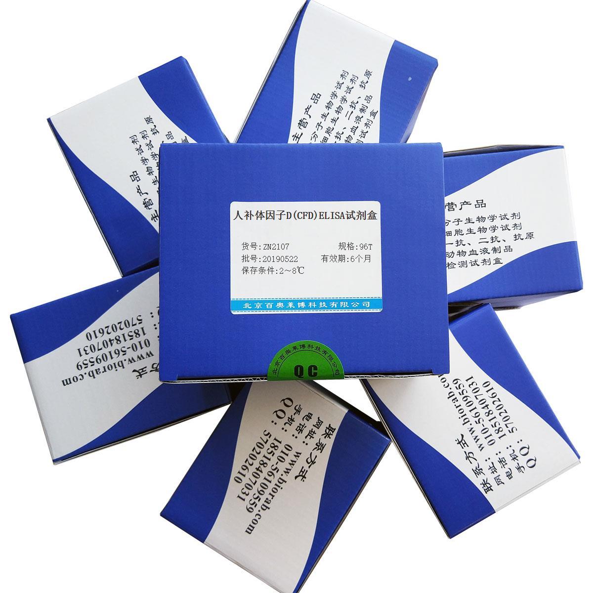 人补体因子D(CFD)ELISA试剂盒北京供应商