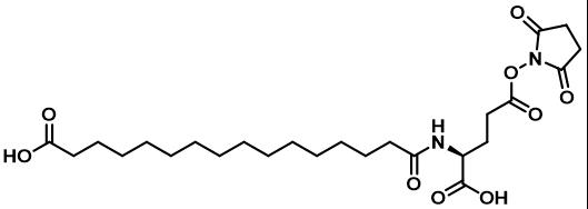德谷胰岛素侧链(脱保护); L-HO-Pal-Glu(OSu)-OH