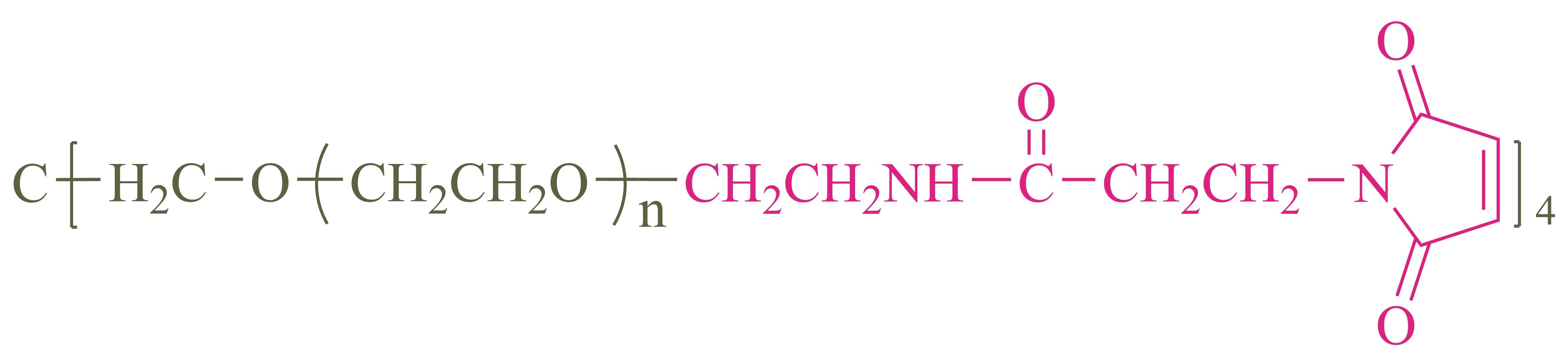 四臂聚乙二醇马来酰亚胺(酰胺键)(4-arm PEG-MAL);4-arm Poly(ethylene glycol) maleimide