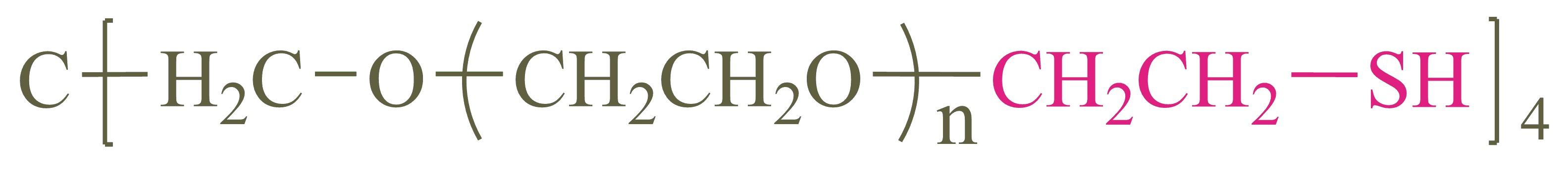 四臂聚乙二醇硫醇(4-arm PEG-SH);4-arm Poly(ethylene glycol) thiol