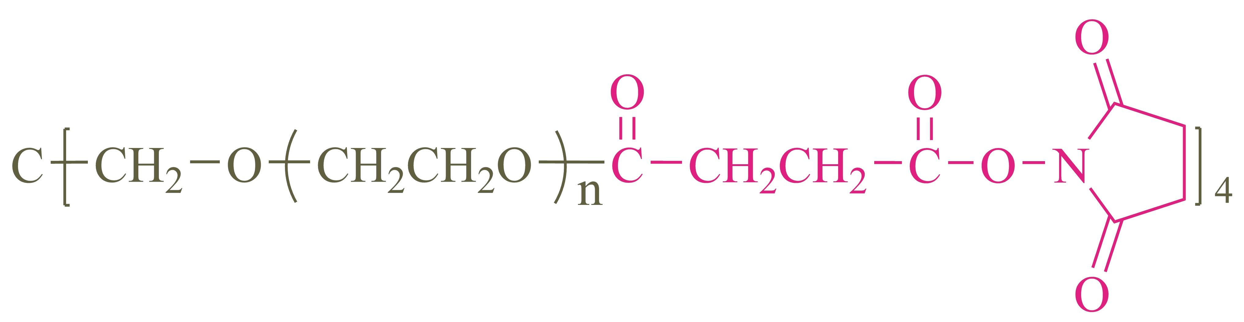 四臂聚乙二醇琥珀酰亚胺琥珀酸酯(酯键)(4-arm PEG-SS);4-arm Poly(ethylene glycol) succinimidyl succinate