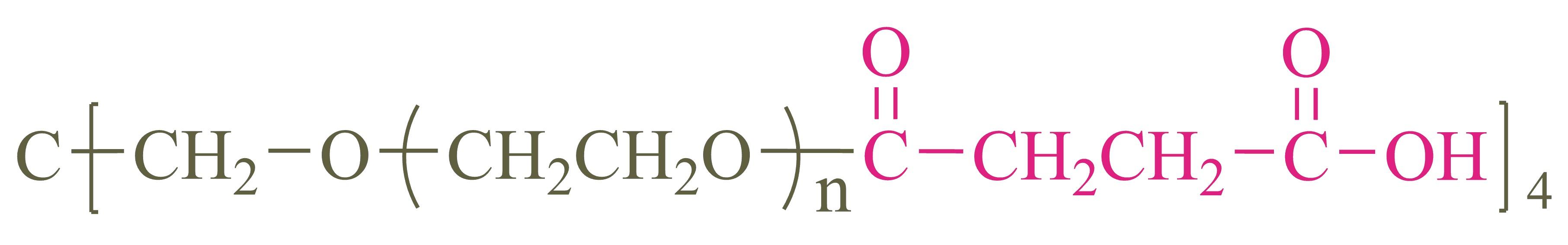 四臂聚乙二醇琥珀酸(酯键)(4-arm PEG-SA);4-arm Poly(ethylene glycol) succinate acid