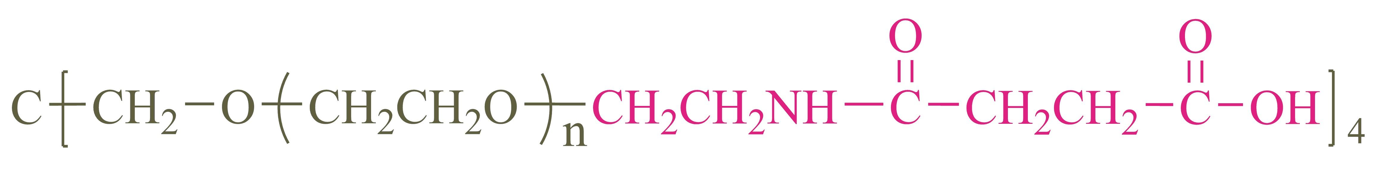 四臂聚乙二醇琥珀酸(酰胺键)(4-arm PEG-SAA);4-arm Poly(ethylene glycol) succinimidyl acid