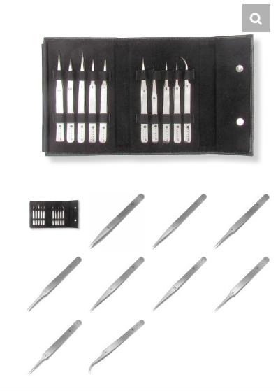 Tronex Magetic Closure Kit with 10 Economy Tweezers – 镊子