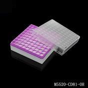 塑料冻存盒(长x宽x高)133x133x55mm, 9x9分格,有孔(for 2ml Tube)