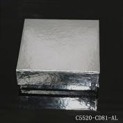 镀铝纸冻存盒(长x宽x高)134x134x50.8mm, 9x9分格,无孔(for 2ml Tube)