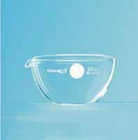 蒸发皿 10mL 平底,带倾倒口和书写区域