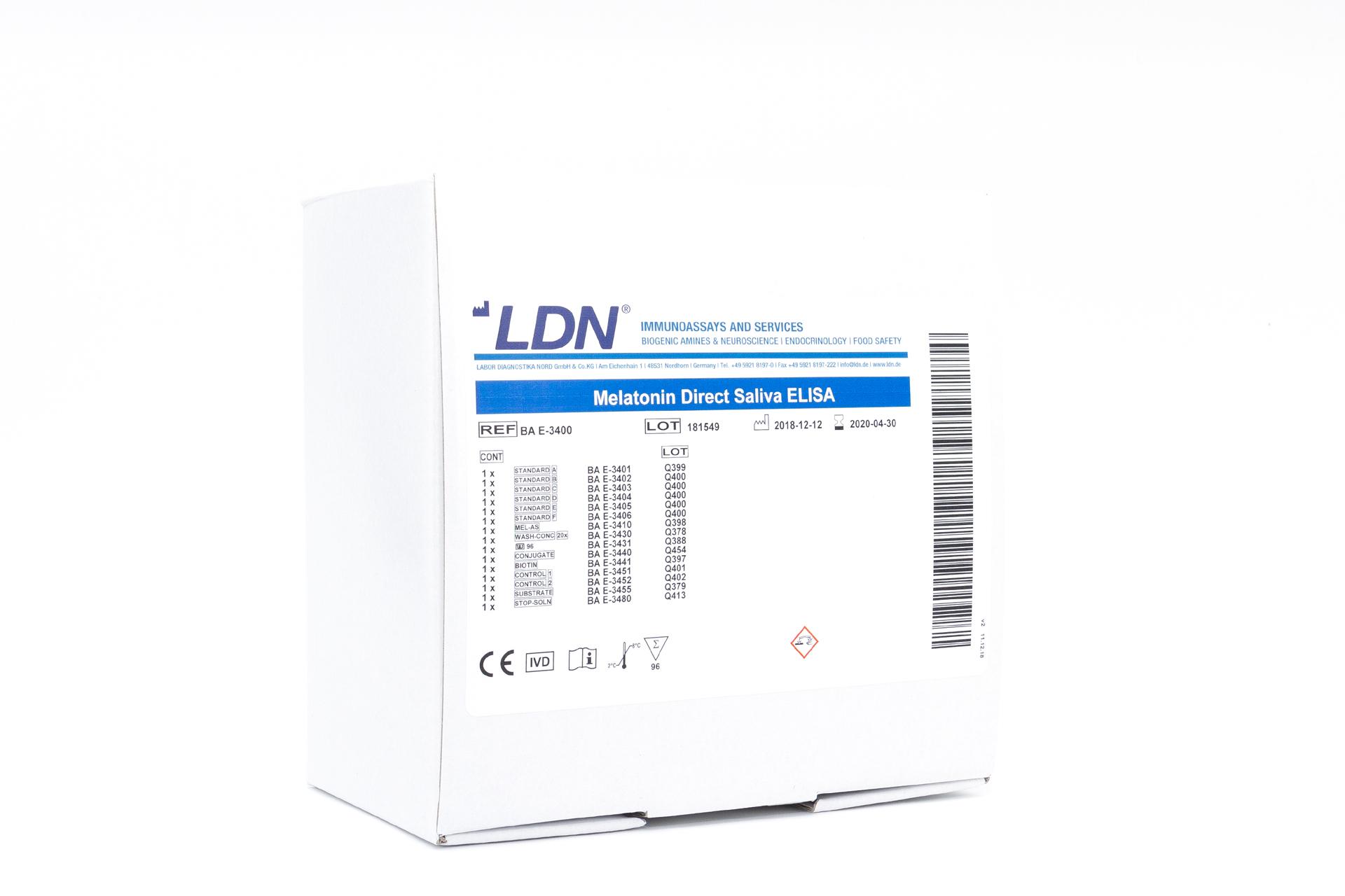 人唾液褪黑激素检测试剂盒Melatonin Direct Saliva ELISA