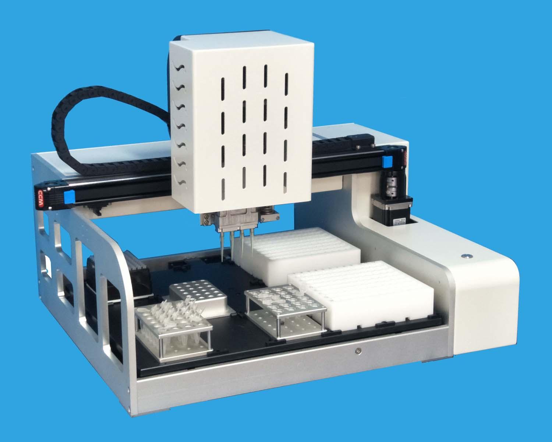 靈活性比美單通道,效果高于可變距的獨立吸液4個移液頭全自動移液機械手