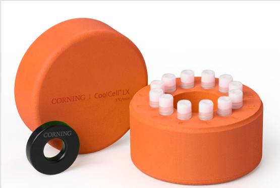 Corning®CoolCell®LX,细胞冷冻容器,用于12 x 1 mL或2 mL低温瓶,橙色