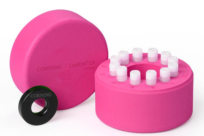 Corning®CoolCell®LX,细胞冷冻容器,用于12 x 1 mL或2 mL低温瓶,粉红色