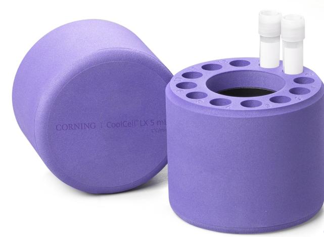 Corning®CoolCell®5 mL LX,细胞冷冻容器,用于12 x 3.5 mL至5 mL低温瓶,紫色 商品编号 432005