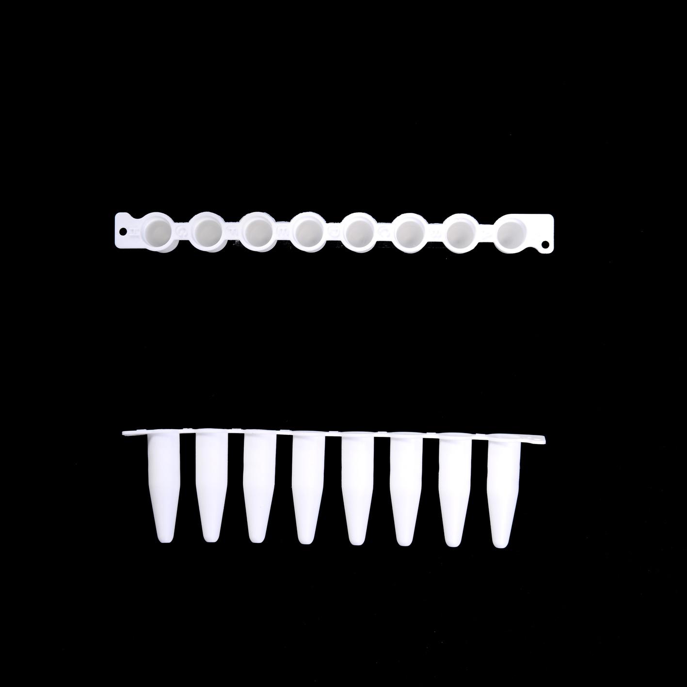 EU 0.2 ml 薄壁八联管(白色,普通连接)