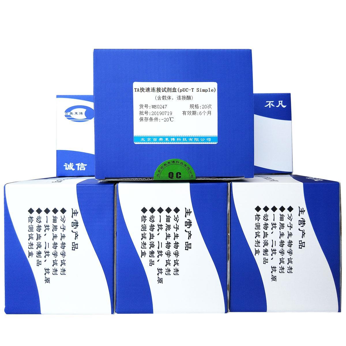 TA快速连接试剂盒(pUC-T Simple)(含载体,连接酶)