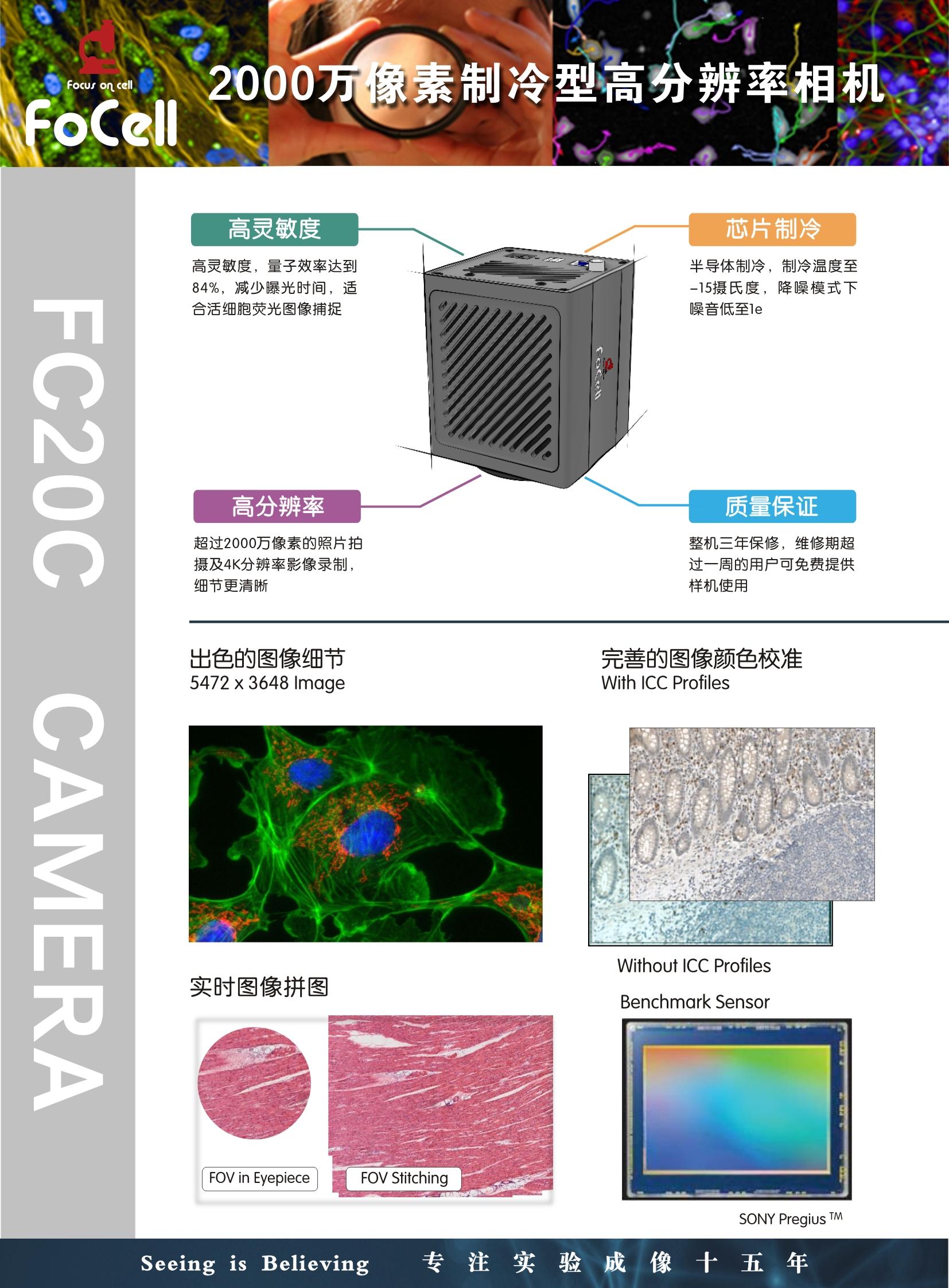 FC20C- 彩色2000万像素制冷型显微镜CMOS相机