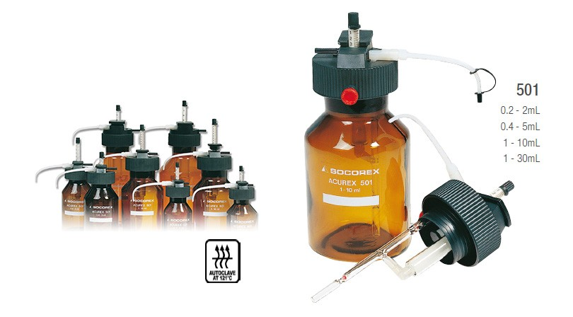 SOCOREX 501紧凑型瓶口移液器