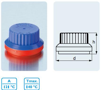 防啟封螺旋蓋 PP1 材質,適用于實驗室,DIN 螺紋