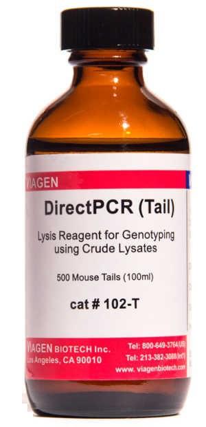 鼠尾直接PCR裂解液  DirectPCR Lysis Reagent  102-T  101-T 现货