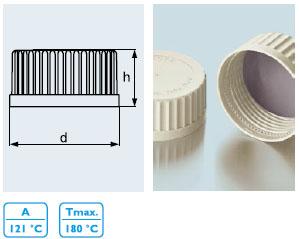 快速开启及关闭螺旋盖, 配DURAN® GLS 80® 口径 实验室玻璃瓶, 具密封内衬垫(PSU 化合物材质1)