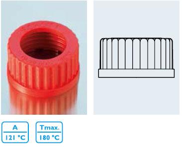 頂開孔螺旋蓋 PBT1 材質,紅色