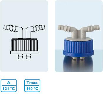 連接系統 GL 45 二孔螺旋蓋